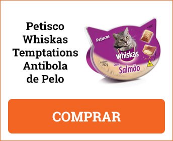 Petisco Whiskas Temptations Antibola de Pelo