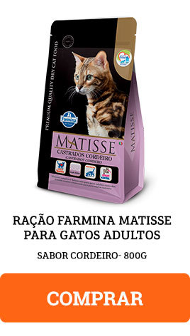 Ração Farmina Matisse para Gatos Adultos Sabor Cordeiro 800g